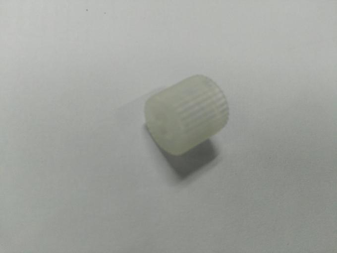 White Colour of  unscrew part with PC Material Made From Insert Injection Molding